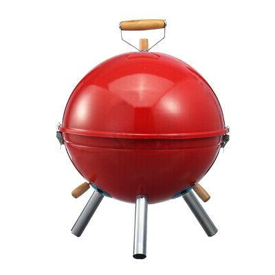 Iron BBQ Grill Portable Camping Charcoal Stove