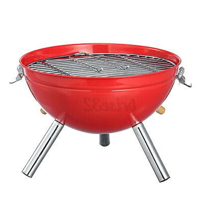 Iron BBQ Kettle Portable Camping Charcoal Stove