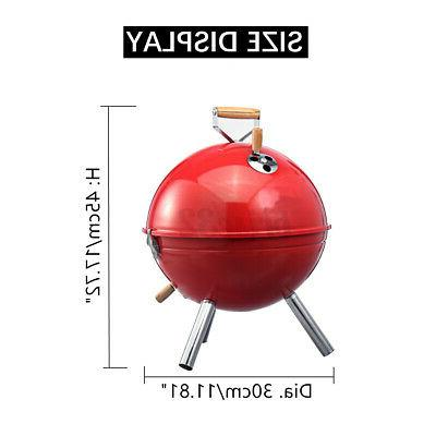 Iron BBQ Kettle Portable Outdoor Camping Charcoal