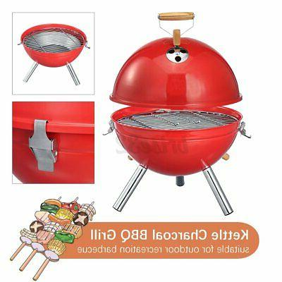 iron bbq kettle grill portable outdoor camping
