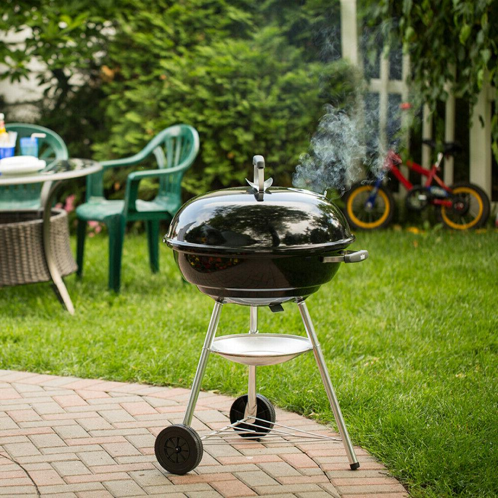 charcoal smoker grills with round plated steel