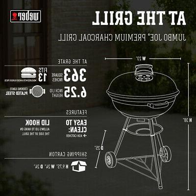 Weber Joe Black Grill BBQ 22-Inch Kettle Round Outdoors