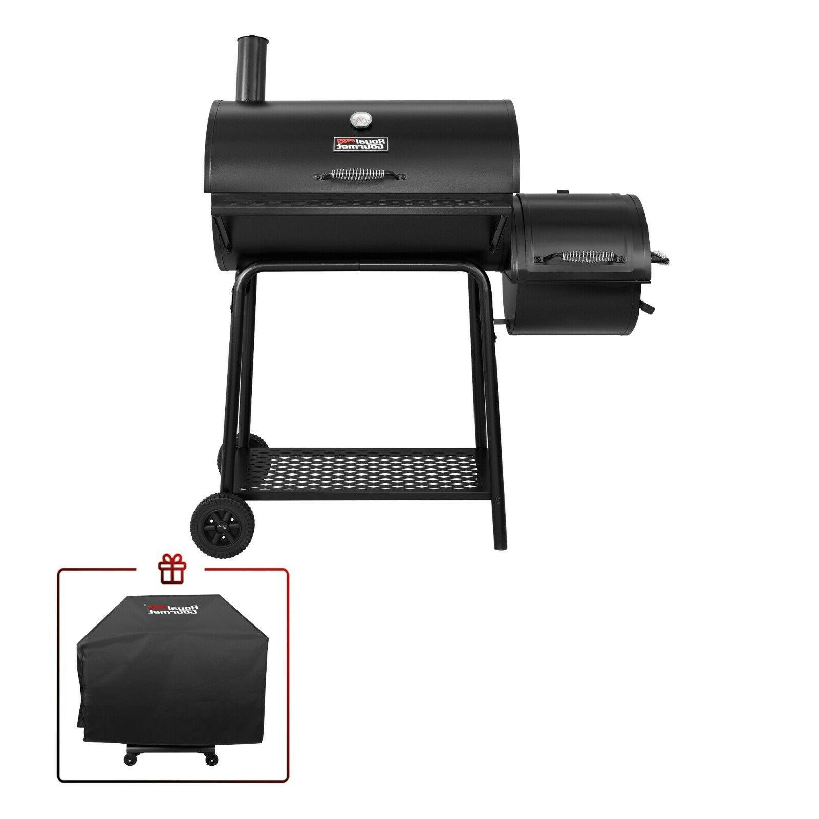 Royal Gourmet 30-Inch Barrel Charcoal Grill w/ Offset Smoker