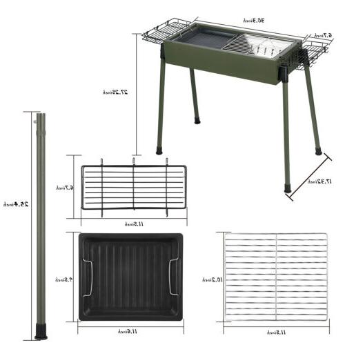 Foldable Barbecue Stove Patio Shish Kabob