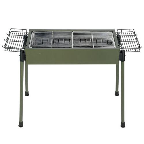 BBQ Barbecue Charcoal Grill Stainless Steel Cooker Portable