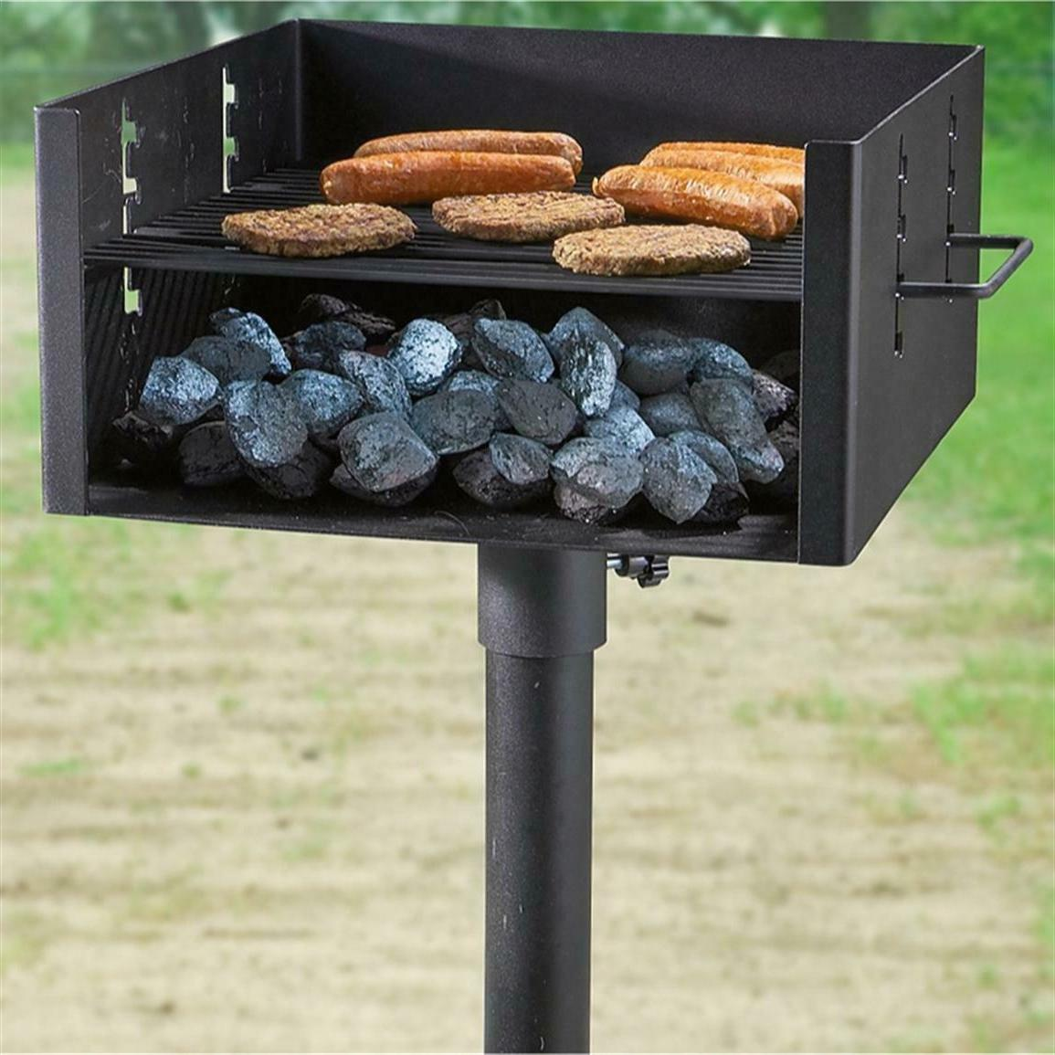 Large Duty Post Park Grill Charcoal