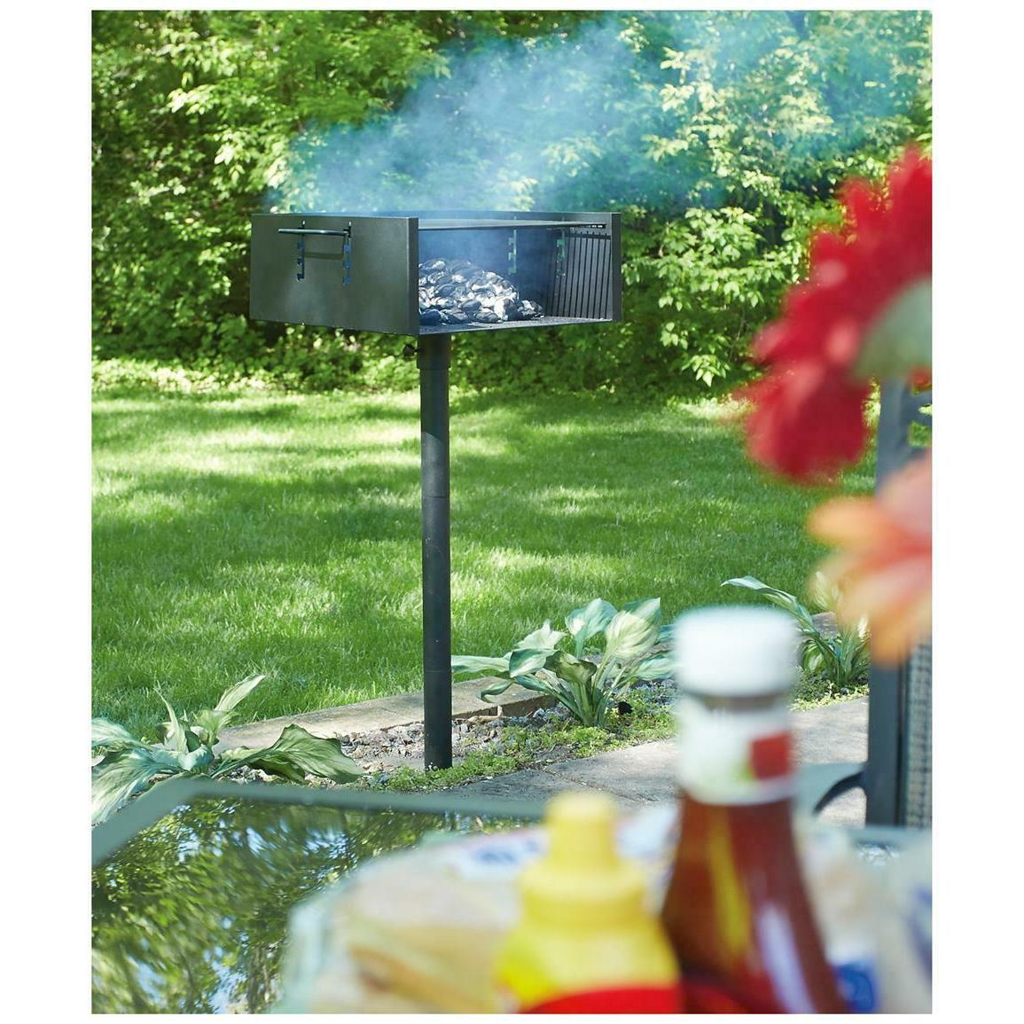 Large Post Park Style Charcoal Outdoor