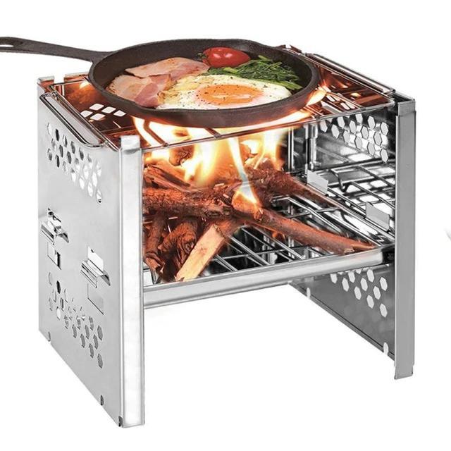 Mini Folding Firewood Charcoal Stove BBQ