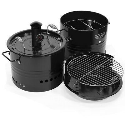 Multi-Function Barrel Pit Smoker Oven & Fire Pit