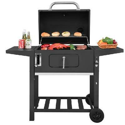 24-Inch Charcoal Sq 6 Heights, BBQ Picnic Patio Cooking