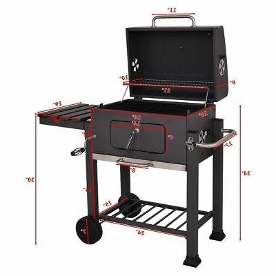 NEW BBQ Outdoor Backyard Cooking Portable Wheels