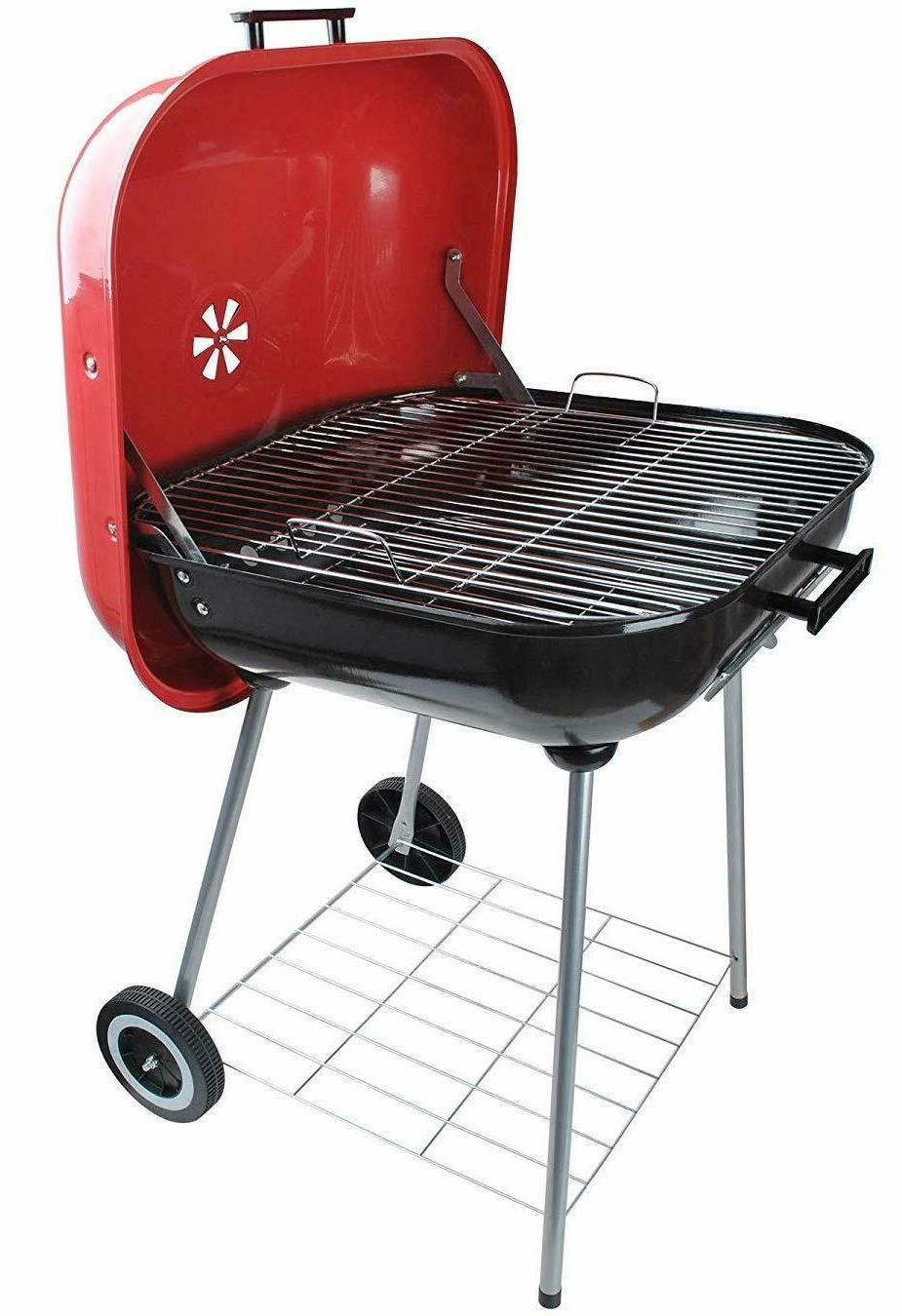 new classic large square 25x25 charcoal barbecue