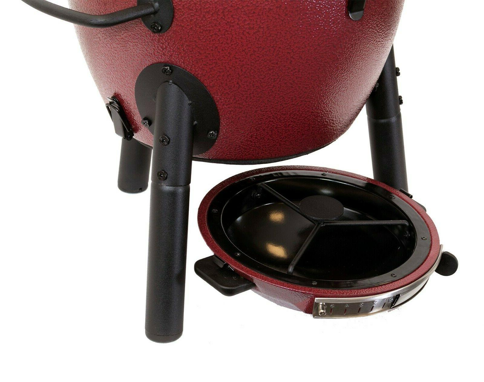 Charcoal Grill Patio Garden Kamado Jr Red,