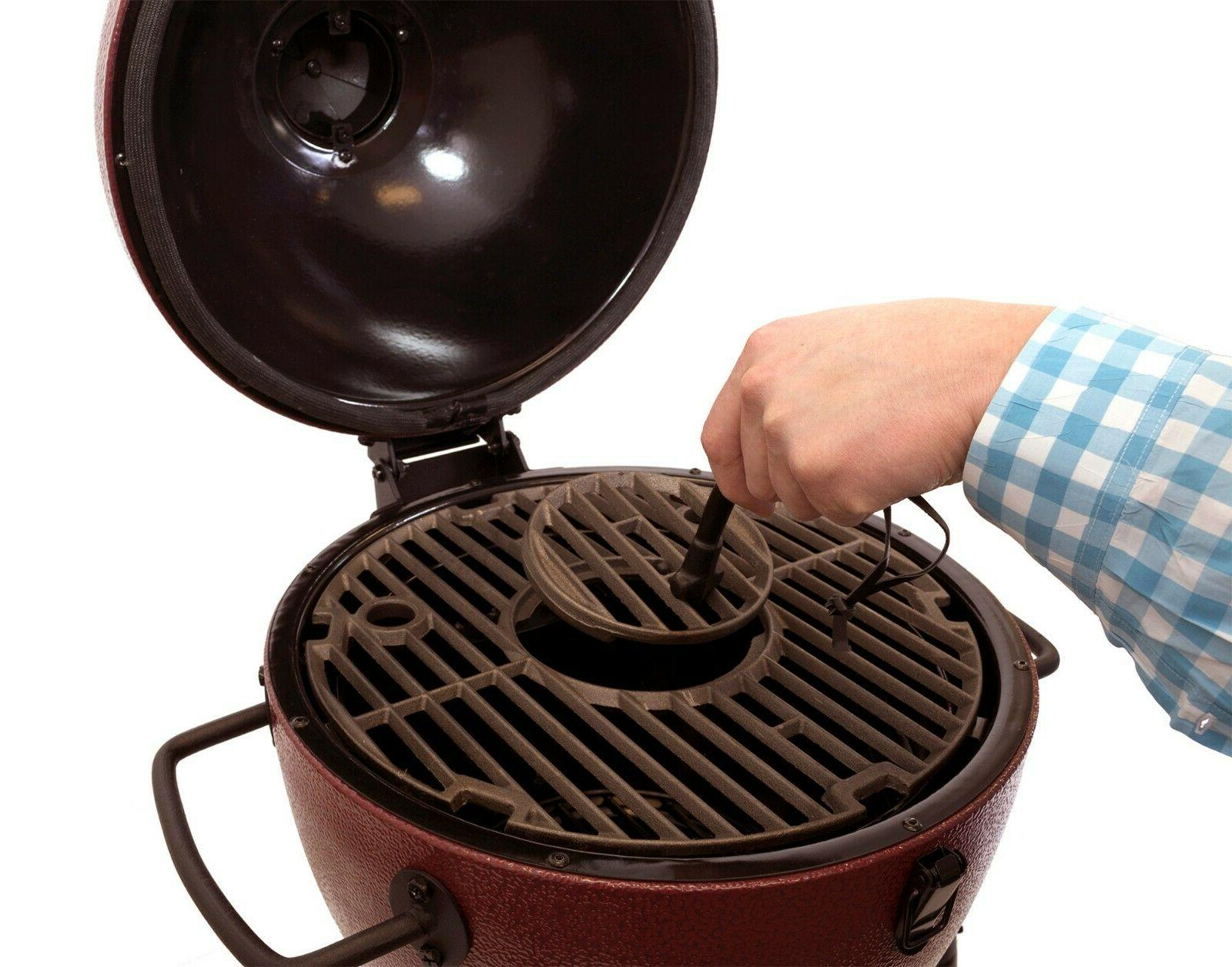 Patio Garden AKORN Kamado Jr Kooker Red,