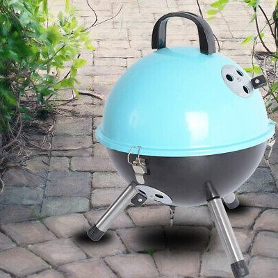 Outdoor Portable Charcoal BBQ Bottom Storage