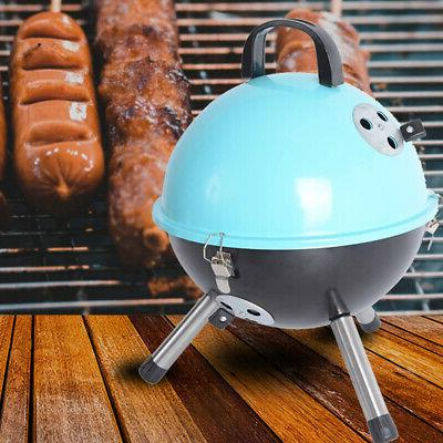 Outdoor Backyard Cooking Portable Charcoal Bottom Storage