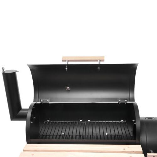 Zokop Outdoor Charcoal Barbecue Pit Backyard Meat Smoker