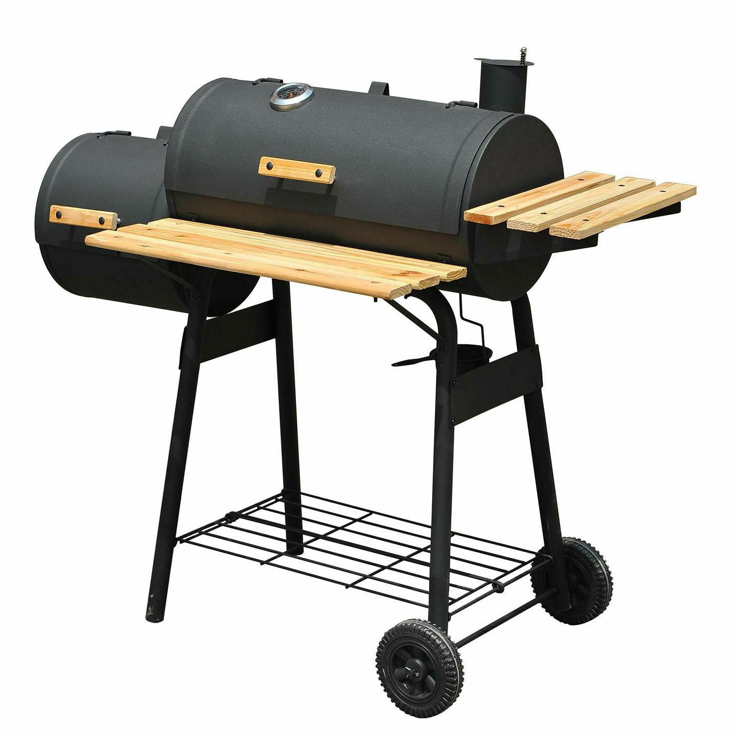 outsunny backyard charcoal bbq grill