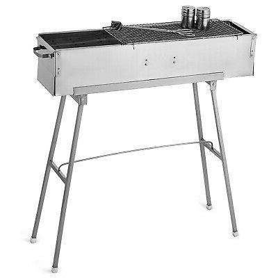32'' Vertical Offset Charcoal Smoker Grill Cooker