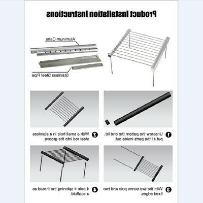 Portable Barbecue Charcoal Stainless Steel Backyard