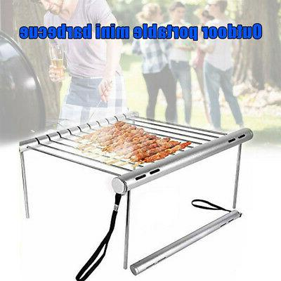 Portable Barbecue Charcoal Stainless Steel Backyard BBQ US