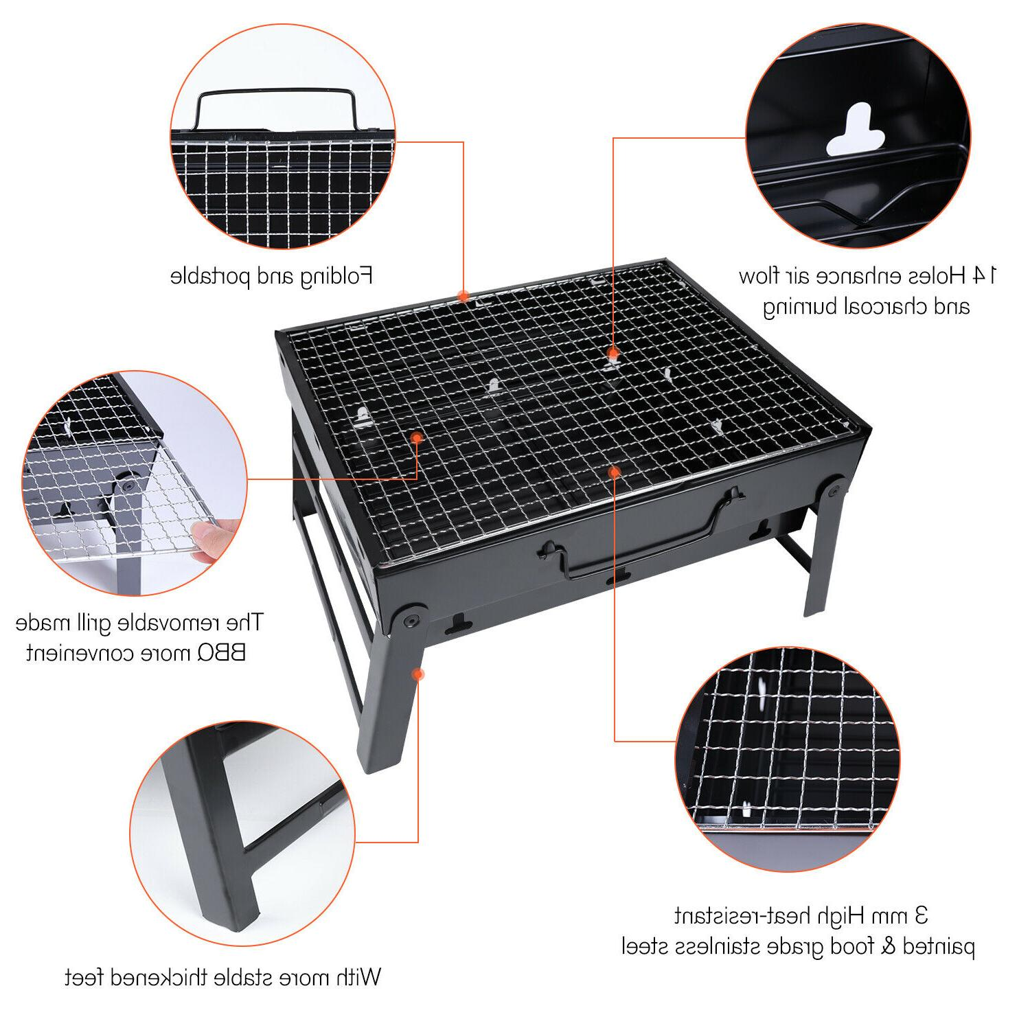 Large Folding Charcoal Camping Garden Outdoor