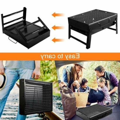 Portable Charcoal BBQ Grill Folding Barbecue Shish Stove Camping Outdoor