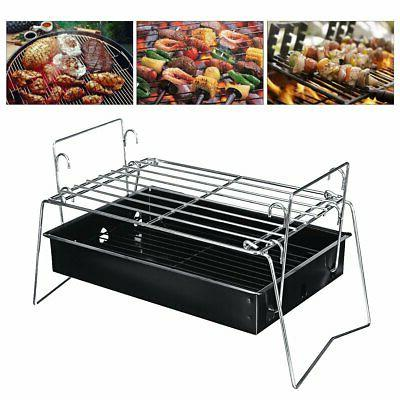 portable charcoal bbq grill folding barbecue shish