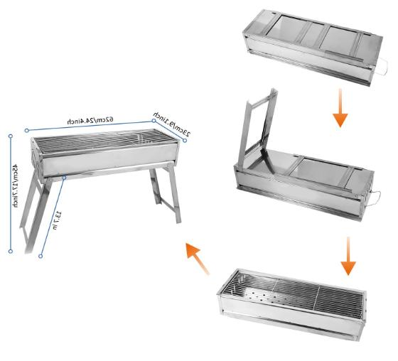 Portable BBQ Grill Stainless Steel Outdoor Barbecue Camp