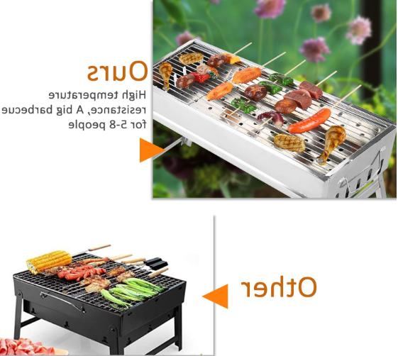 Portable Charcoal Stainless Steel Foldable Barbecue Camp