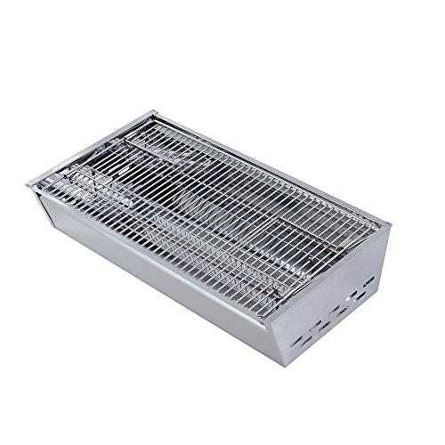 Sougem Portable Grill for Outdoor and Tailgating Steel Folding Barbecue