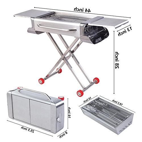 Sougem Grill for Camping and Tailgating Steel Folding