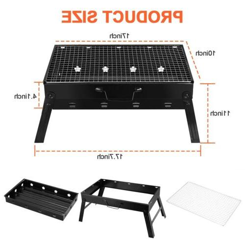 Portable Grill BBQ Smoker Foldable Outdoor