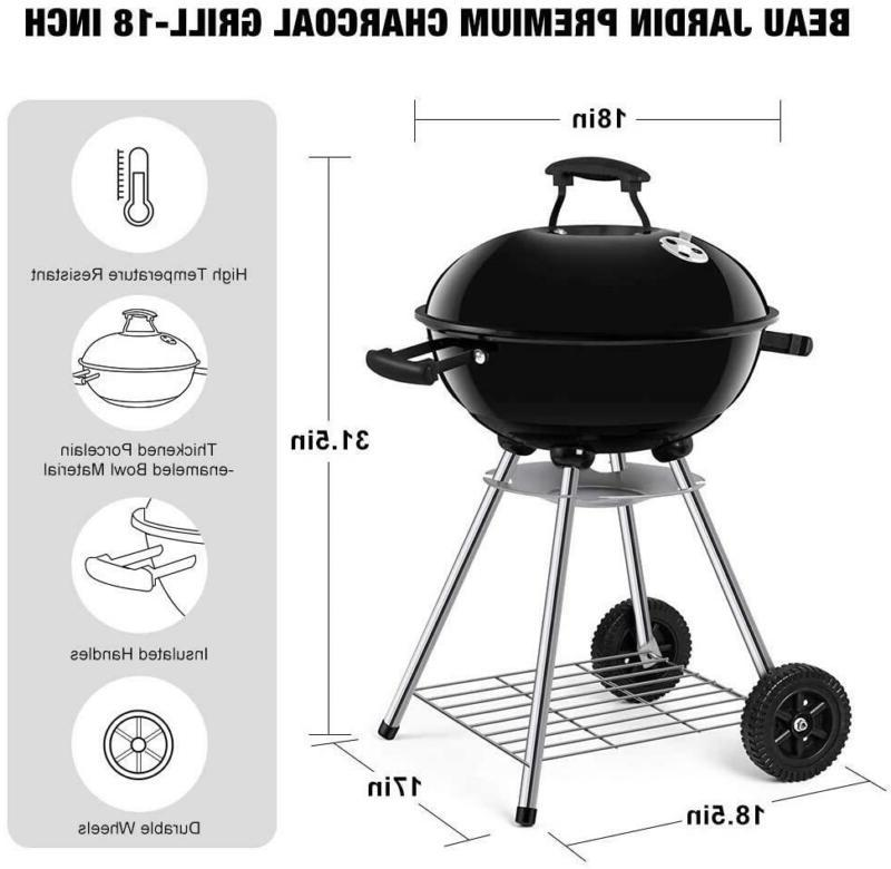 Beau Jardin Grill Outdoor Inch Barbecue Grill Smoke
