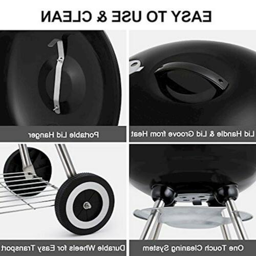BEAU Portable Grill Outdoor Grilling 18inch Barbecue
