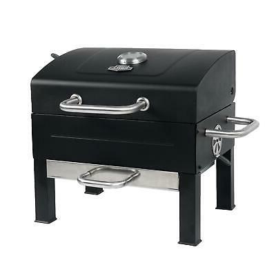 PORTABLE CHARCOAL GRILL Yard Black Stainless