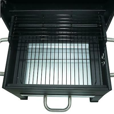 PORTABLE Yard BBQ Tailgate Black Stainless