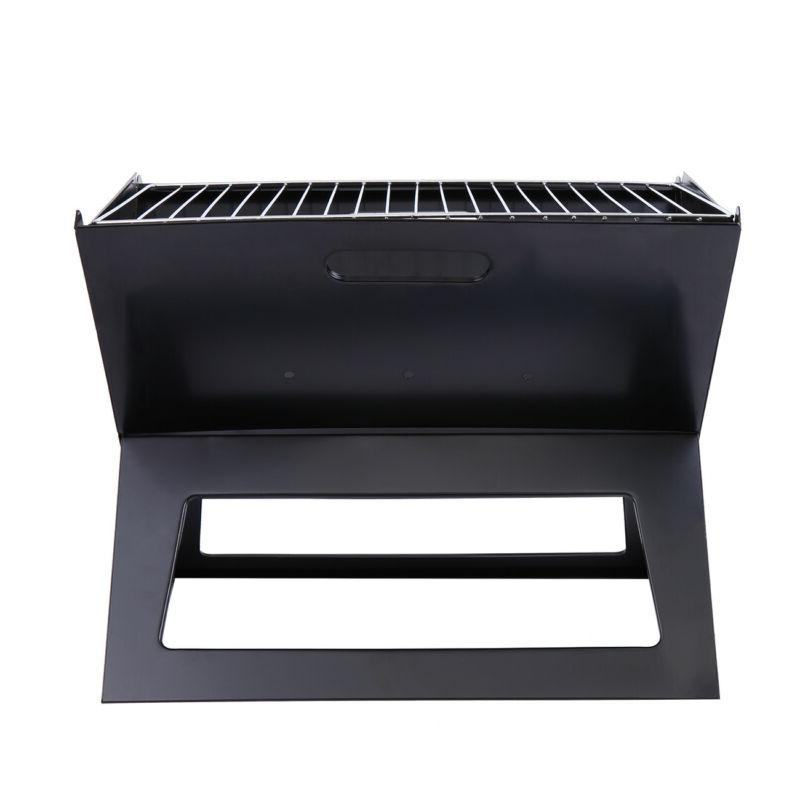 Portable Compact Charcoal Barbecue BBQ Grill Smoker Outdoor
