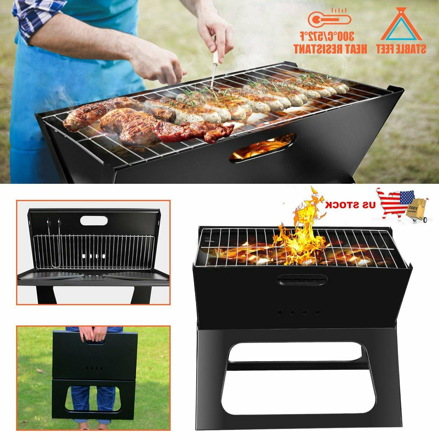 Foldable Compact Charcoal Barbecue BBQ Grill Stove Shish Kab