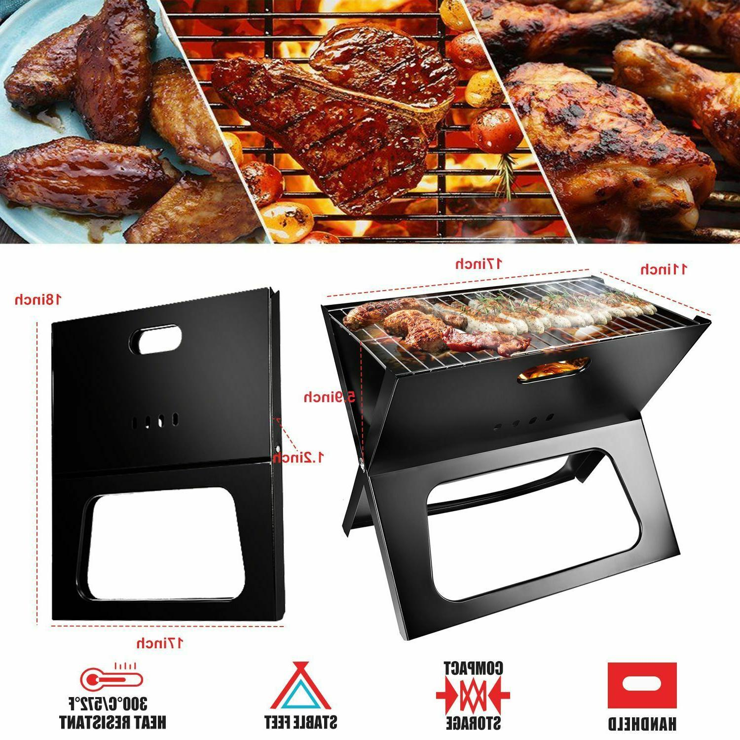 Foldable Compact Barbecue BBQ Grill Charcoal Stove Shish Kab