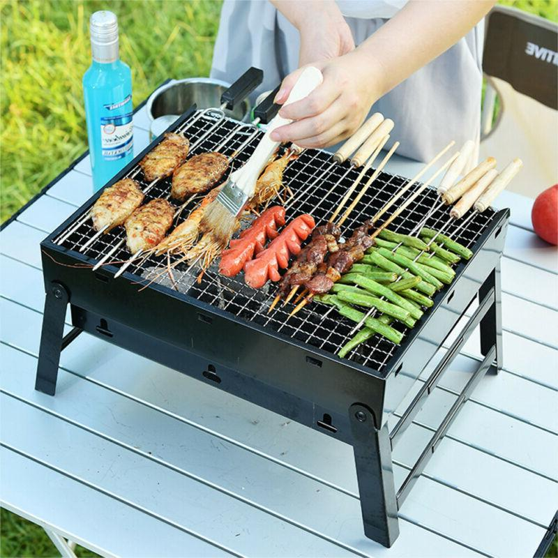 Portable Tabletop Charcoal Grill BBQ Picnic Cooker