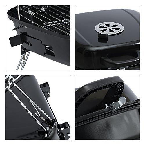 ISUMER Charcoal BBQ Grill with four Foldable legs