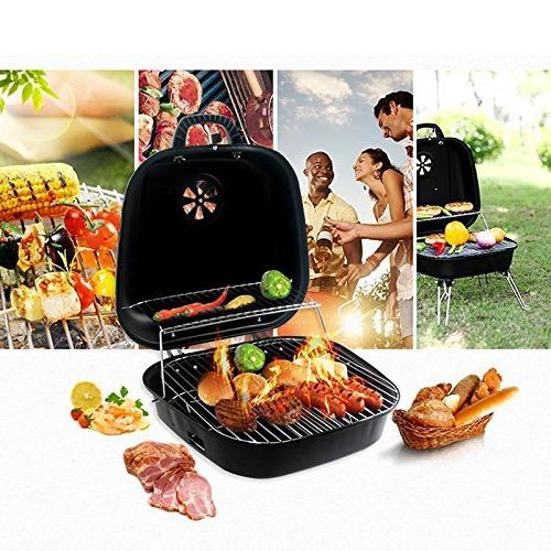 ISUMER Foldable Charcoal Grill with four