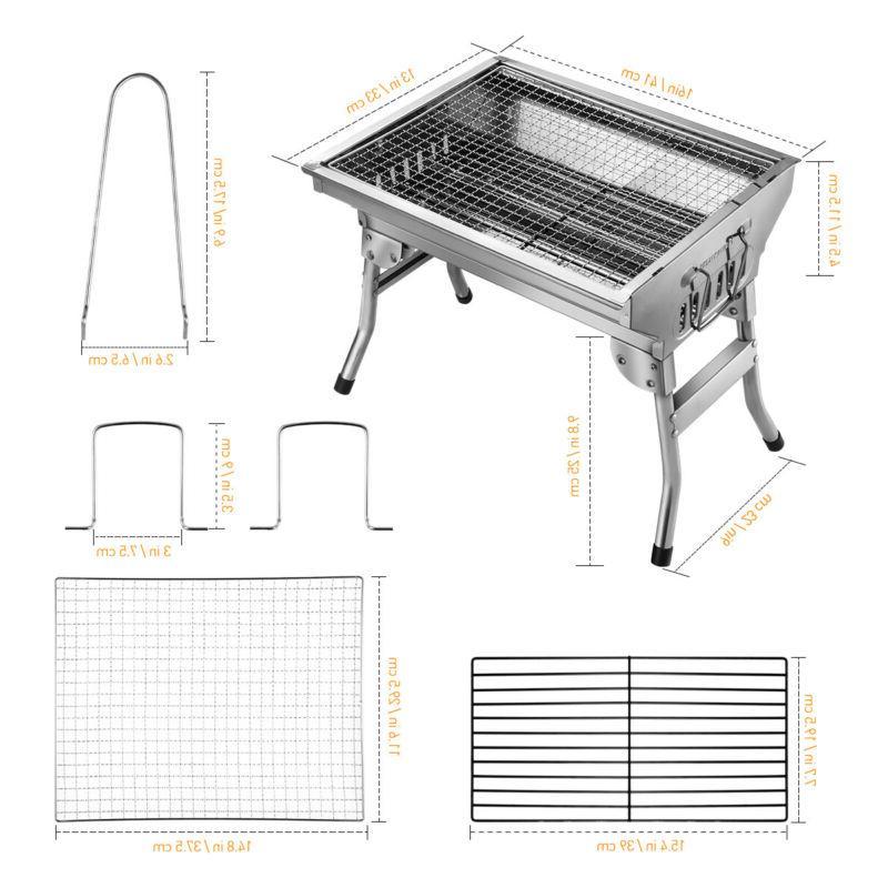 Portable Grill Steel Backyard BBQ