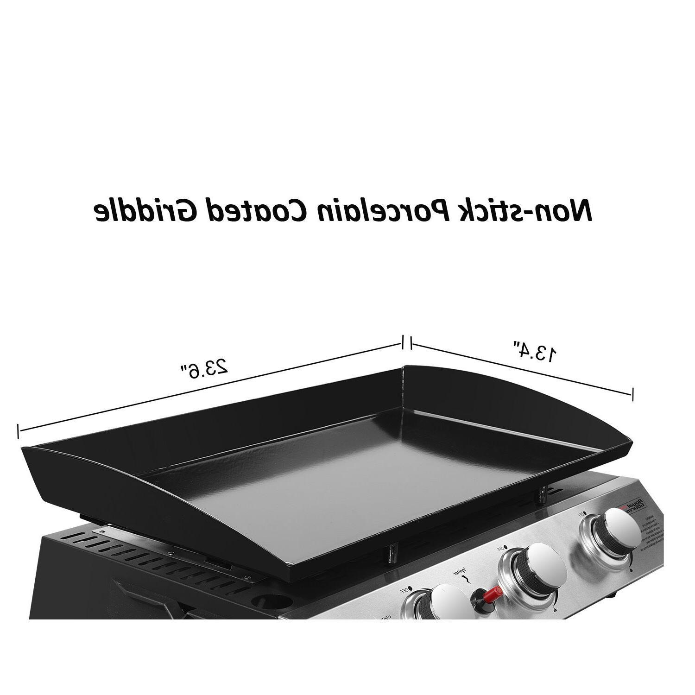 Royal Tabletop 3-Burner Propane Griddle for