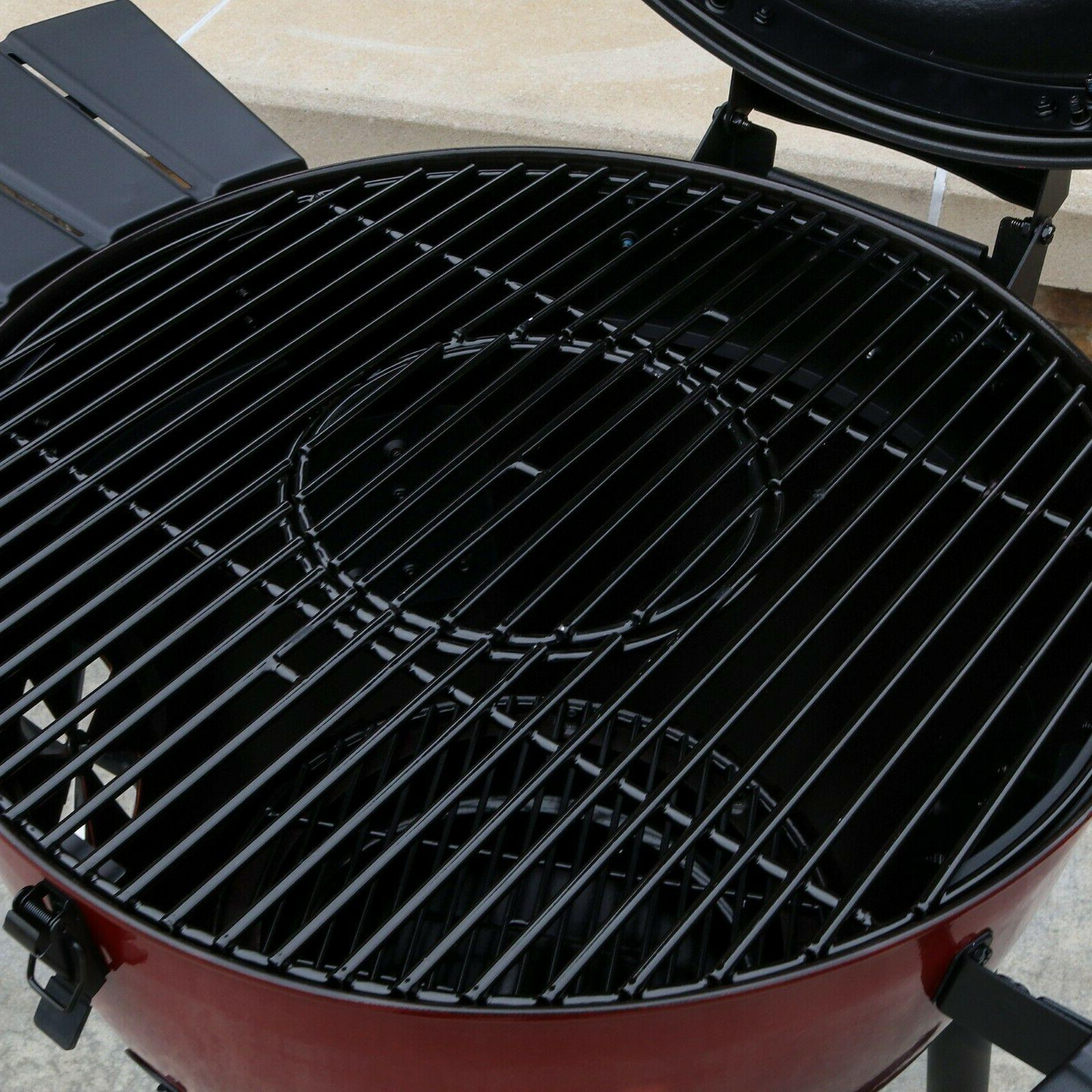 Premium Outdoor Barbecue Cooking Burgers