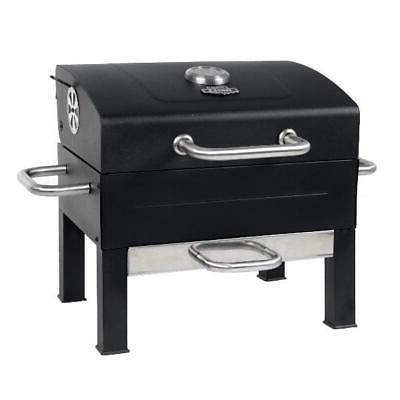 Expert Premium Portable Charcoal Grill, Stainless