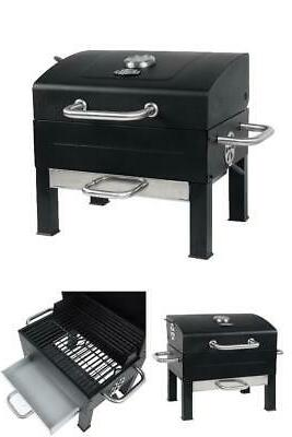 Expert Charcoal Grill, Black Stainless Steel