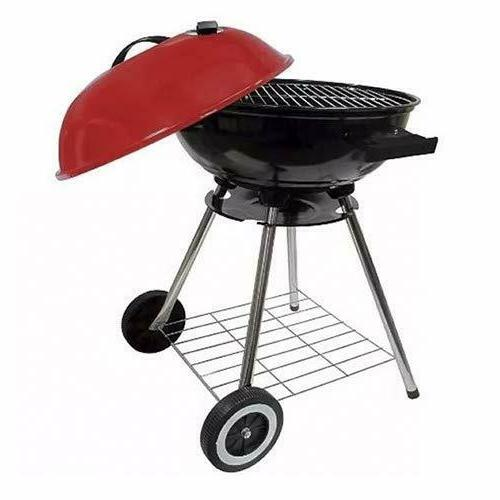 Red Large Charcoal BBQ Heavy