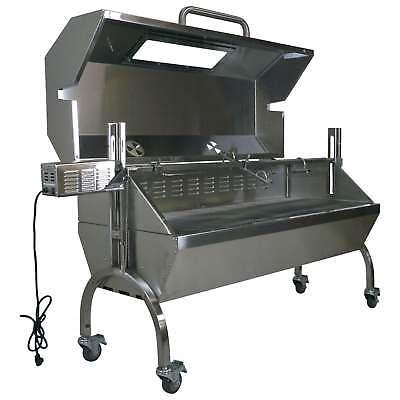 Titan Attachments BBQ Rotisserie Grill w/ Roaster Spit and G